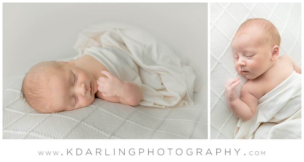 Newborn baby boy sleeping sweetly