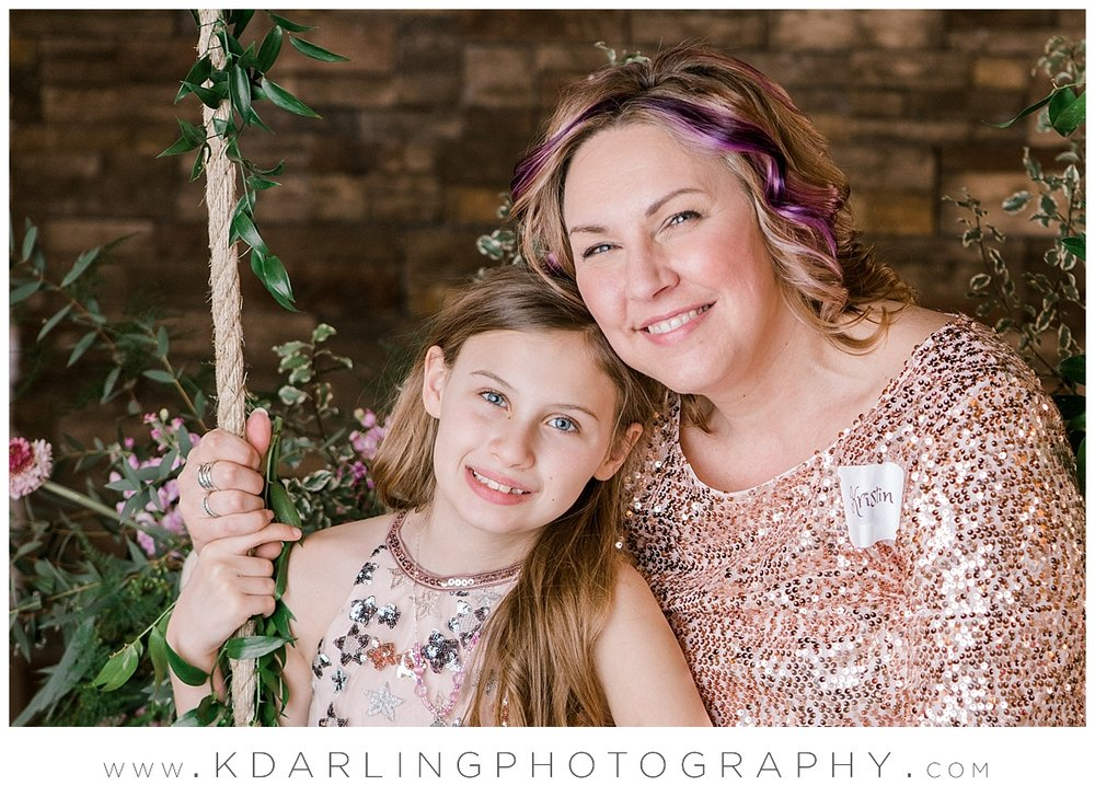 Mother and daughter at pear tree estate
