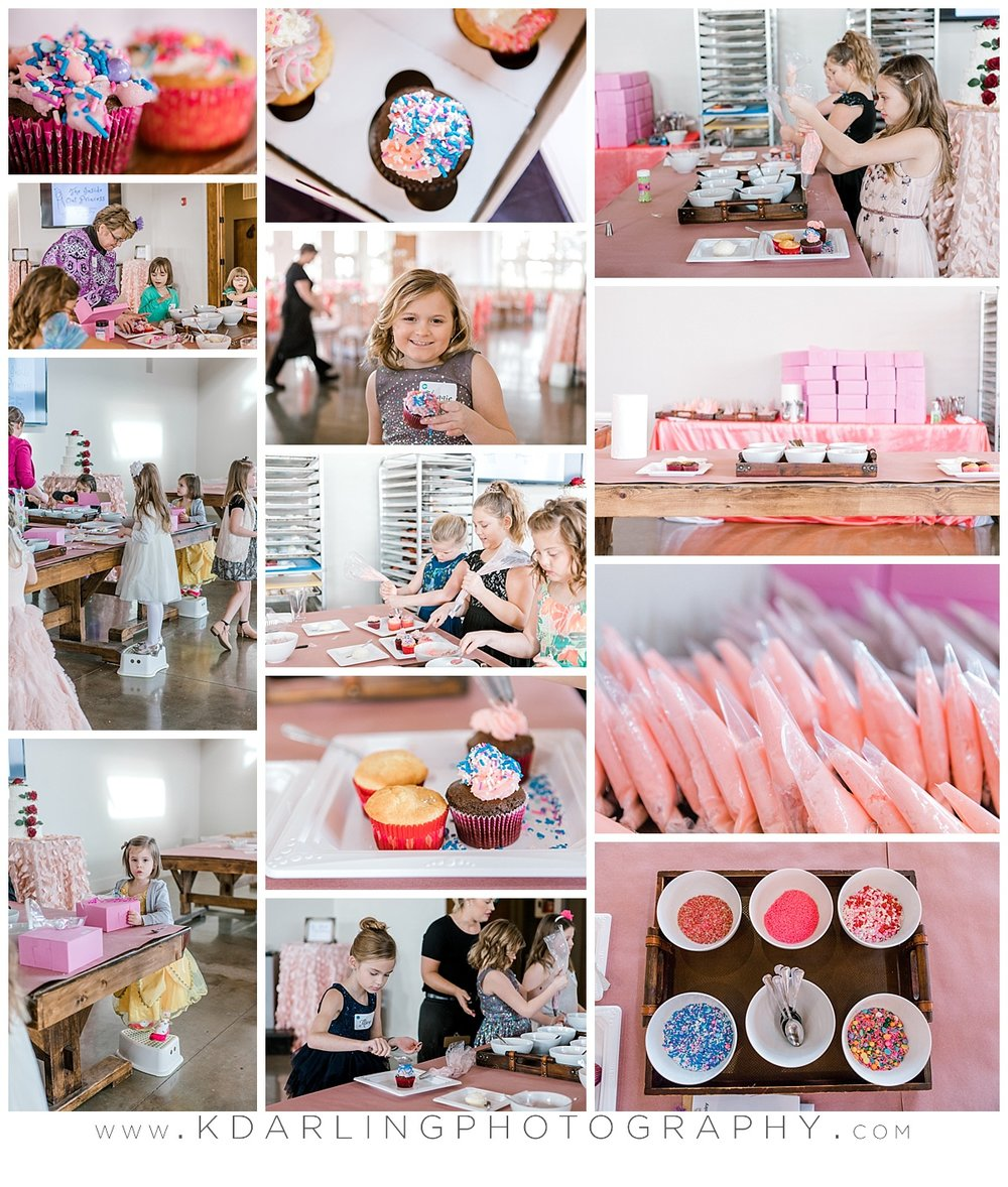 Making cupcakes at pear tree estate