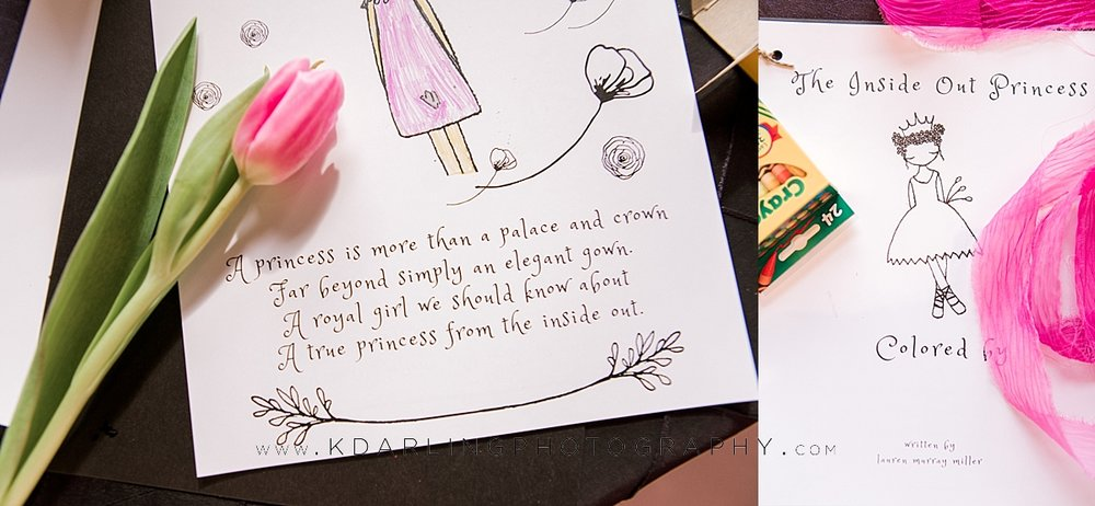 Princess day coloring book at pear tree estate
