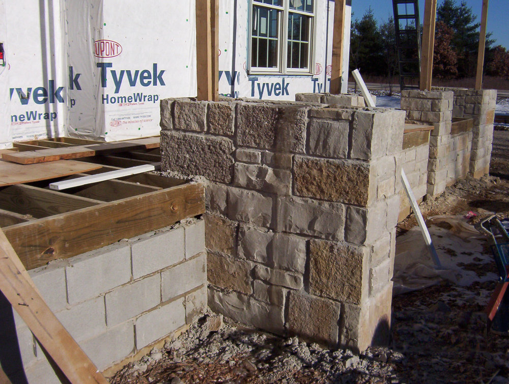 stone pier underconstruction