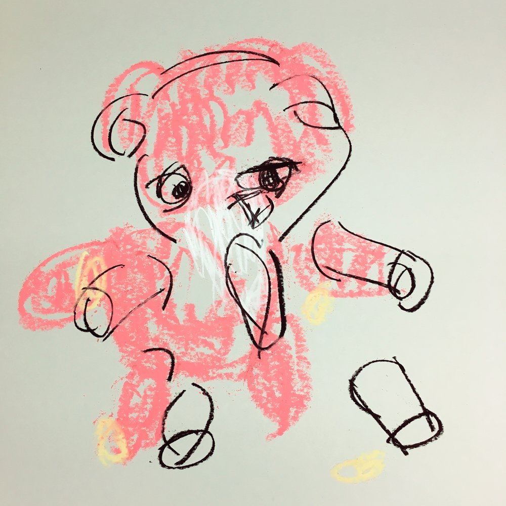 Pink Teddy Bear, Gently Used (2016)