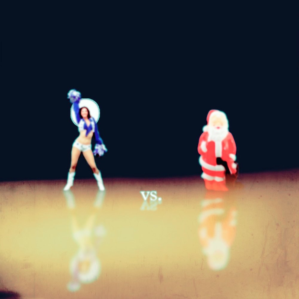 Cheerleader vs. Plastic Santa
