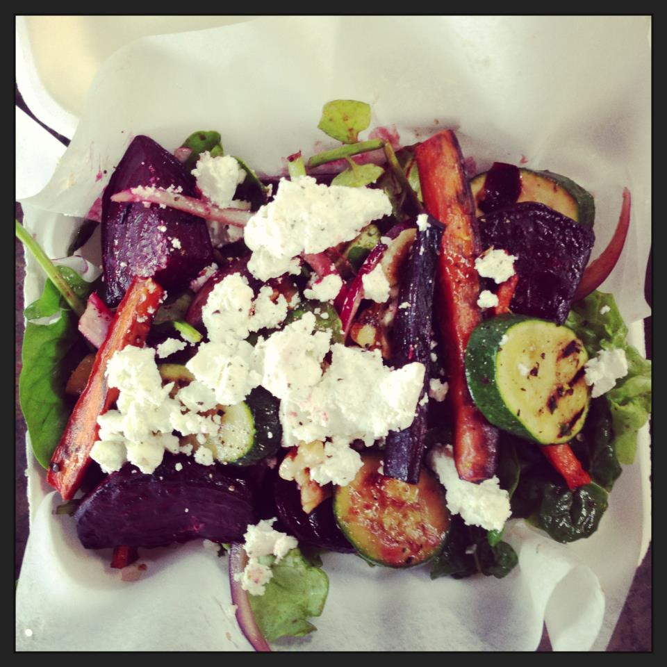 beet salad in box