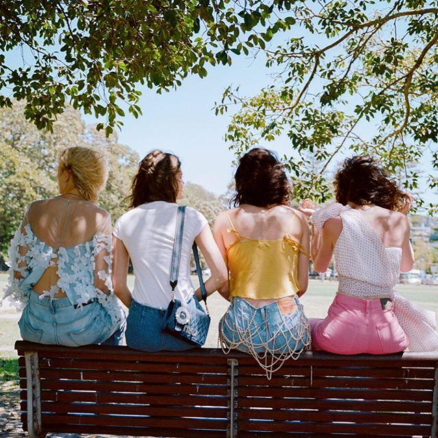 Regram @chloechill wearing @neuwdenim pink Lola jeans #neuw #pinkjeans #denim