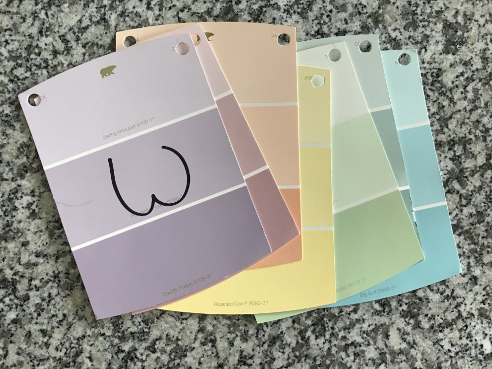 DIY Paint Swatch Welcome Sign