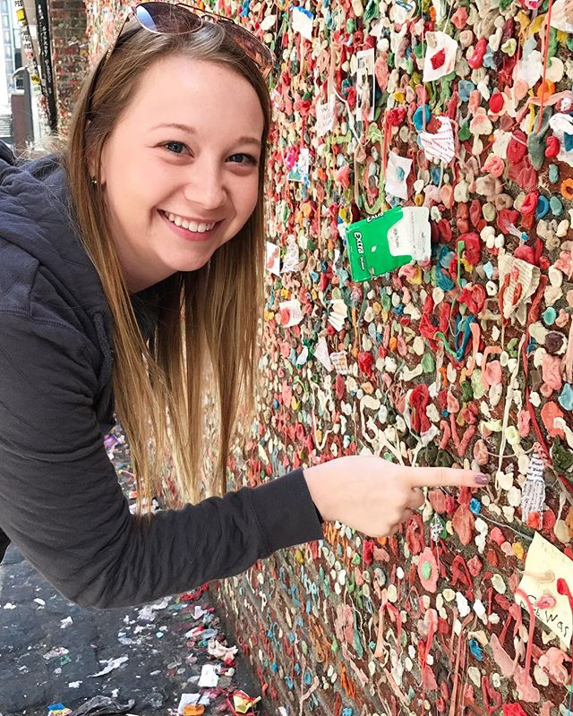 I loved the gum wall in Seattle! Kind of gross, but so cool and colorful!!
