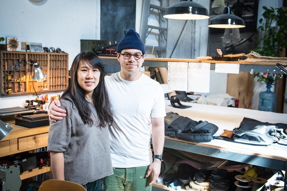Diana Wu (left) and Wesley Nunn (right) of 1.61 soft goods.