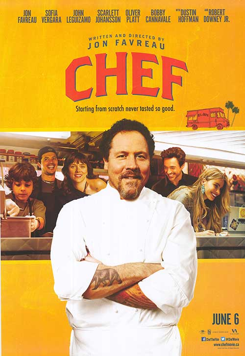 Chef movie poster. Source: MoviePoster.com