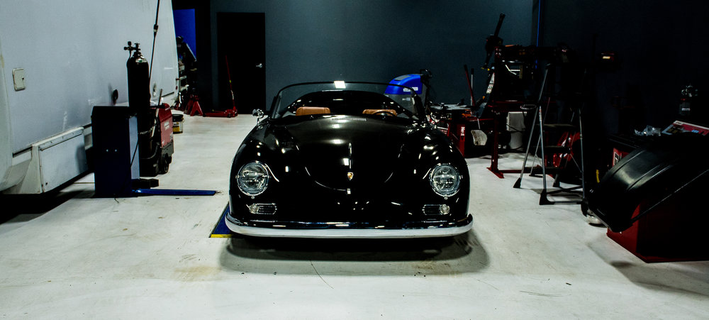 A custom widebody Porsche 356 Speedster.