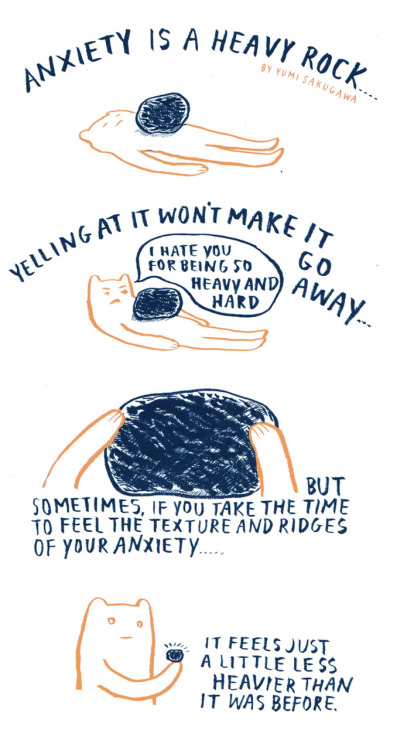 An illustrated meditation guide. Source:  Yumi Sakugawa .