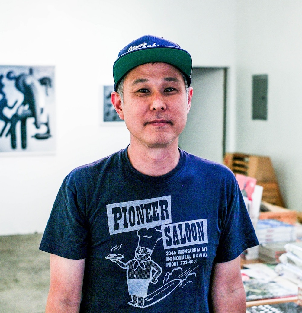 Eric Nakamura - Eric founded Giant Robot Magazine in 1994 and continues to operate the Giant Robot Store and curates exhibitions at GR2 Gallery in West LA. Outside projects include museum exhibition curation and designing enamel pins. Recently, Eric was elected to the West LA Sawtelle Neighborhood Council where he's currently the Vice Chair. When he's on Sawtelle Blvd, he's often eating at KULA and drinking siphon coffee at Balconi. His favorite boba drink is passion fruit green tea and grass jelly.