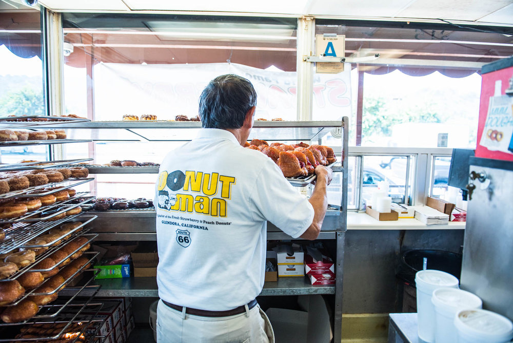 Jim Nakano is thinking of retiring from the business but he will always be the Donut Man .