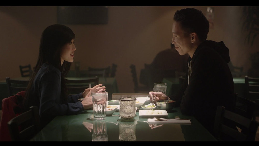 Julie Zhan (left) and Chris Dinh (right) co-star in  Comfort.