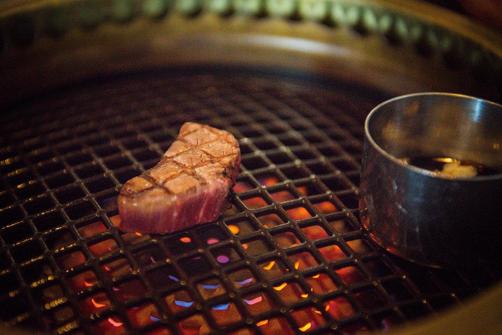 Grilled American Wagyu.
