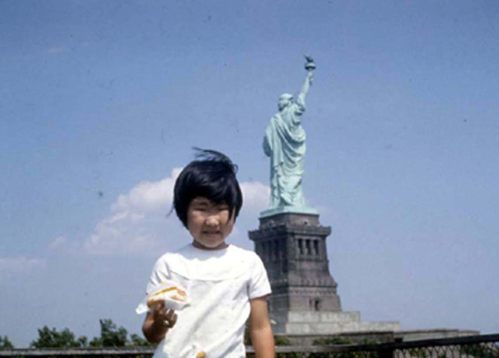 Baby photo of Renee Tajima-Peña on road-trip. Courtesy of Renee Tajima-Peña.