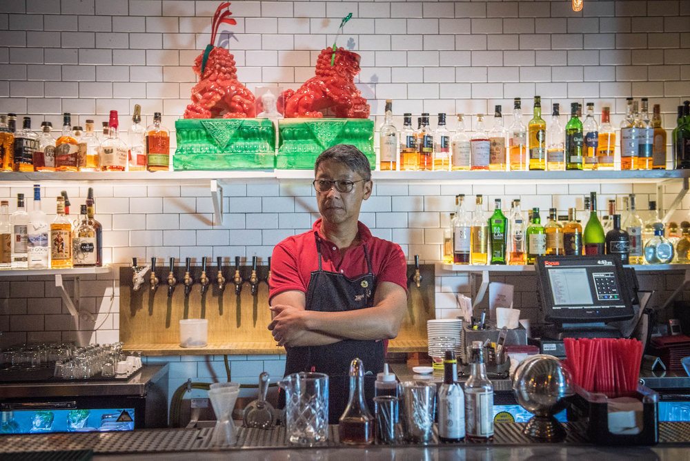 Andrew Chiu, selfmade chef, architect, and co-owner of Peking Tavern.
