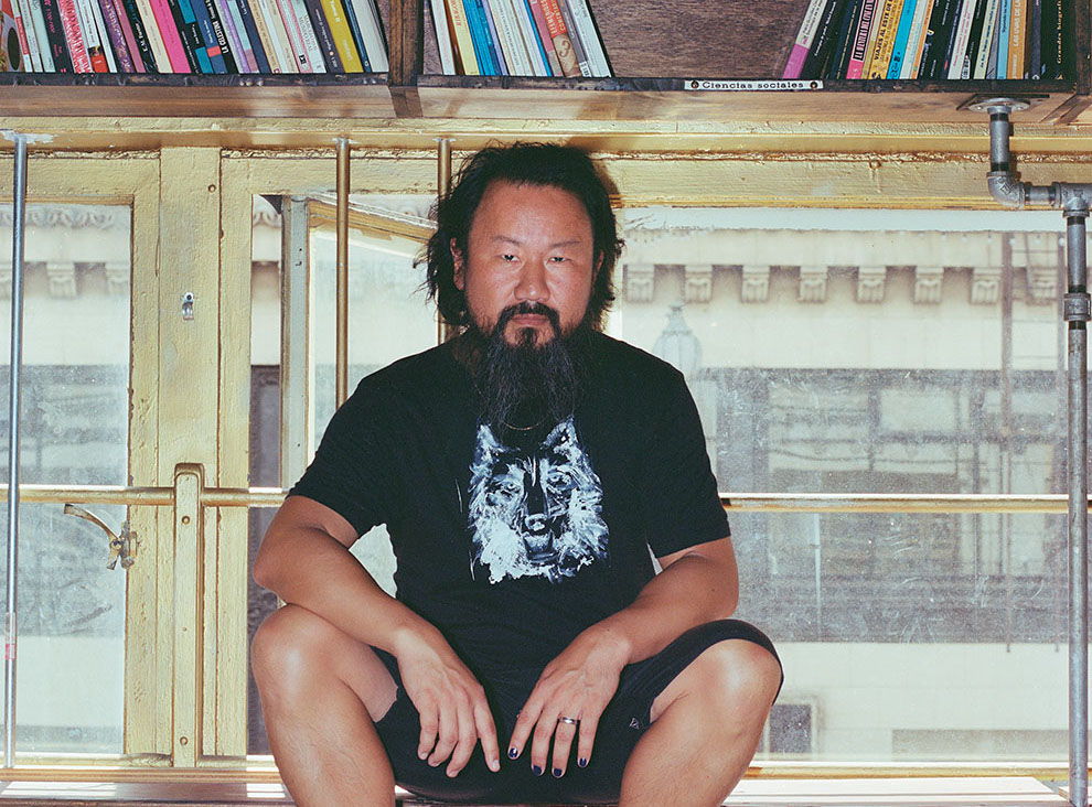 Poet Chiwan Choi. Photo by Sean D. Henry-Smith
