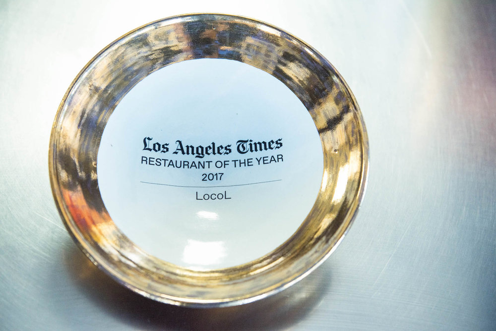 Locol won the prestigious Restaurant of the Year award from the LA Times this year.