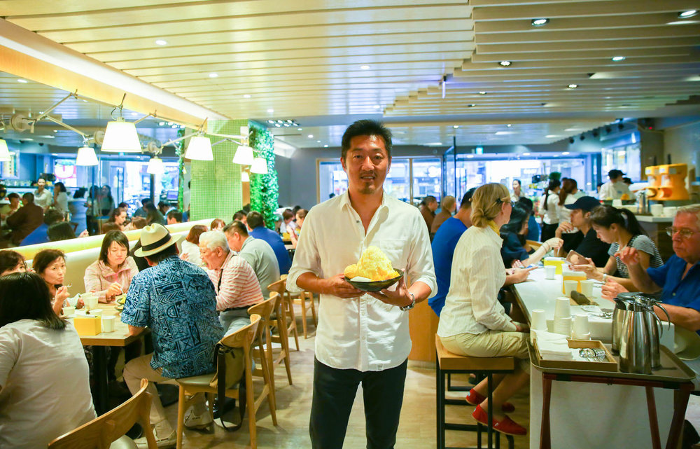 The Founder of Ice Monster, Frank Lo, in his flagship store.
