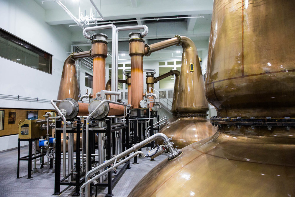 One of the numerous distilling rooms at Kavalan.