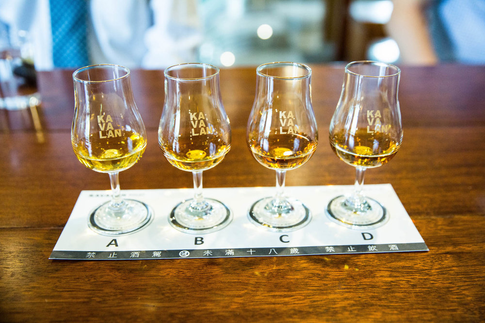 Different blends of Kavalan.