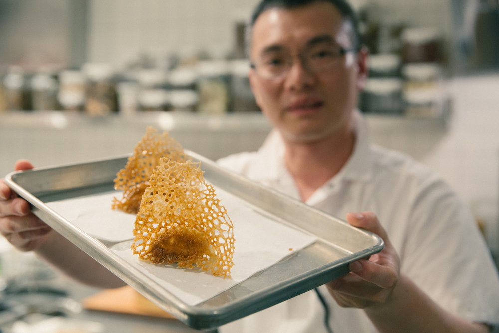 Meet Chef Robin Lin with Foie Gras Potstickers.
