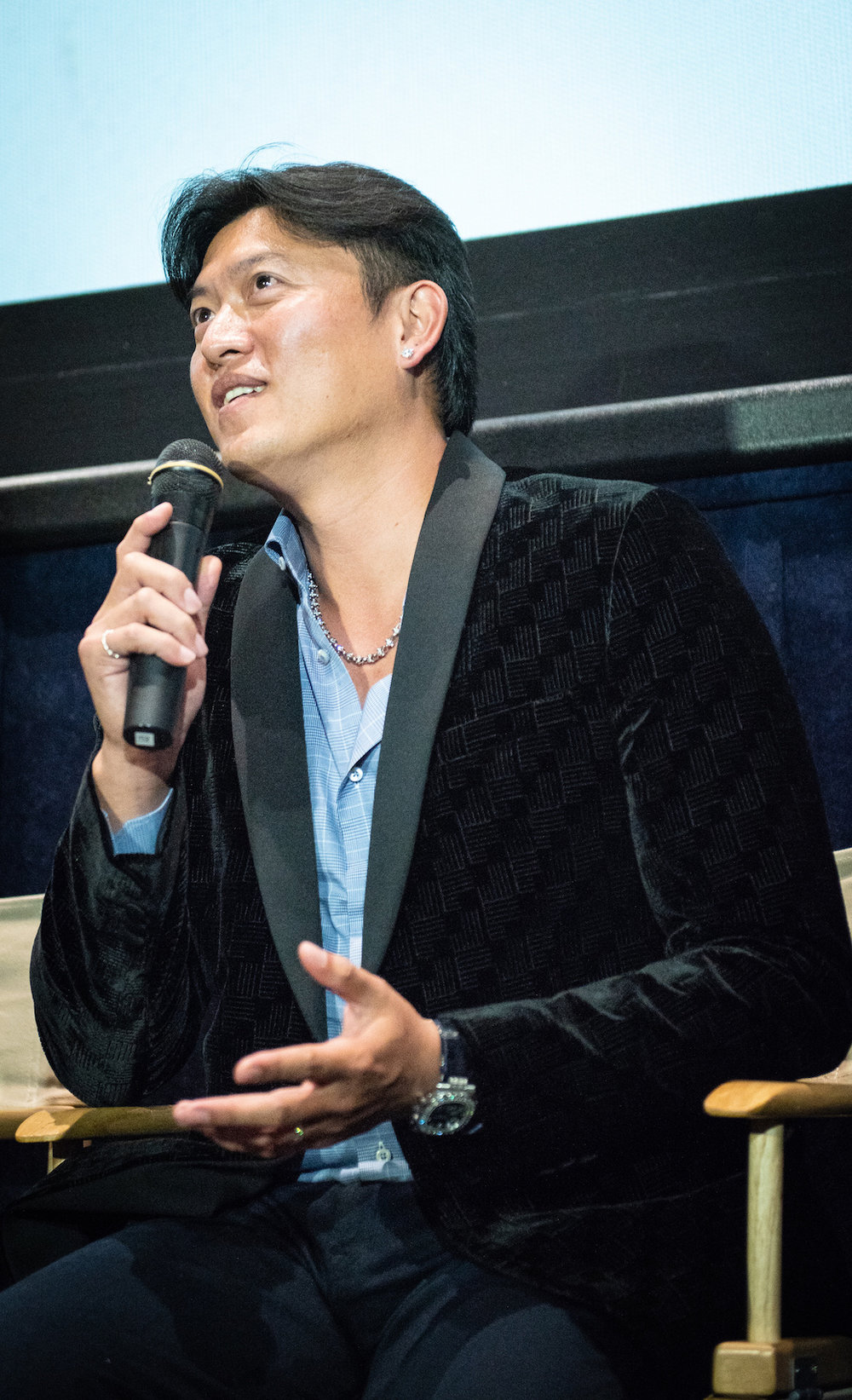 Chien-Ming Wang answers questions at the Q&A.