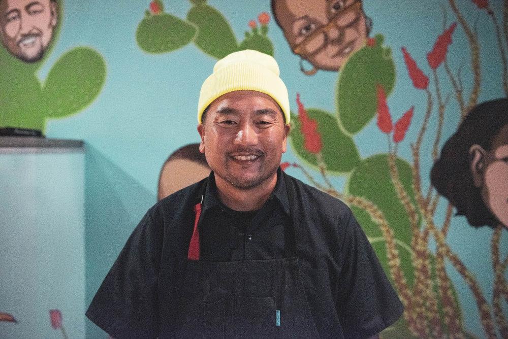 GRM Food Guru Roy Choi at his newest restaurant in Best Friend.