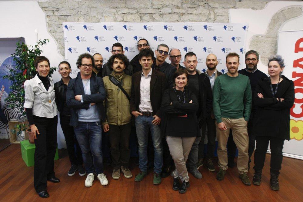 VENERDì28: INCONTRO CON GLI AUTORI. Tutti i registi della sezione Orizzonti Vicini, del 65° Trento Film Festival. (Photo credit: Federico Zuanni e Piero Cavagna)