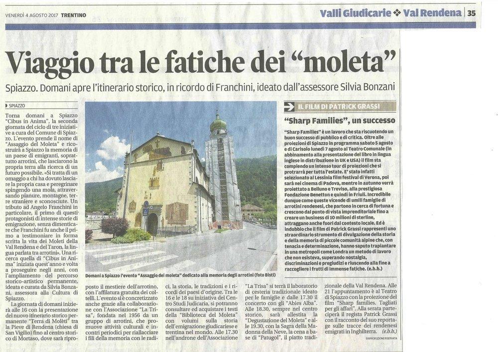 Trentino - 4 agosto 2017