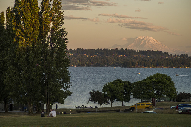 View of Mt. Rainer from Magnuson Park