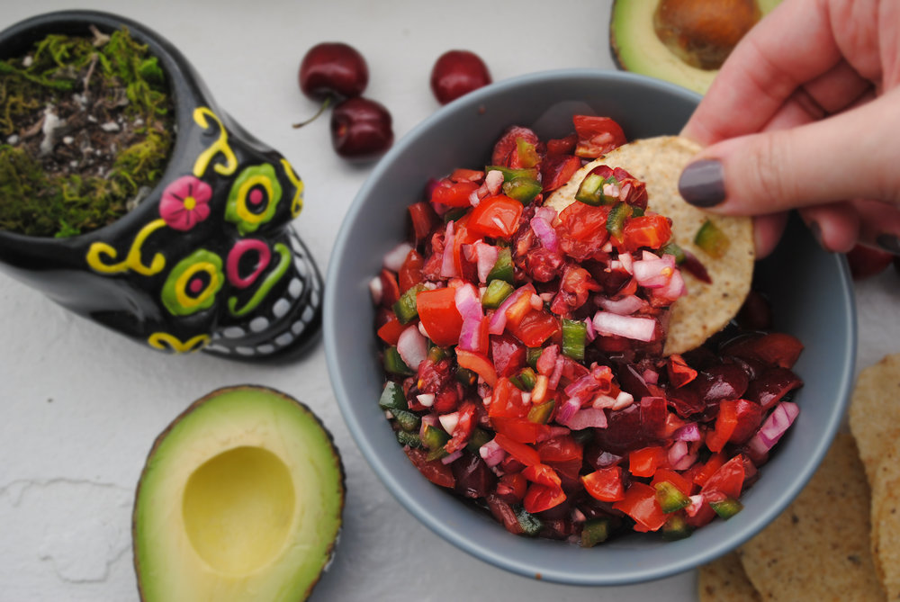 Spicy Cherry Salsa
