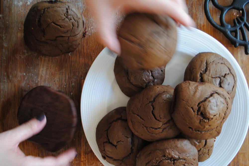 Chocolate Espresso Whoopie Pies