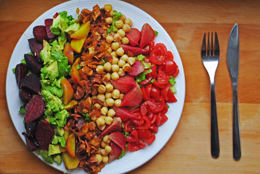 Vegan Rainbow Cobb Salad