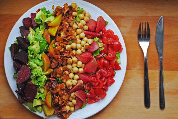 Vegan Rainbow Cobb Salad