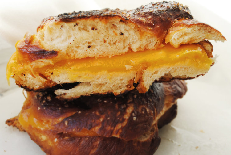 Homemade Soft Pretzel Grilled Cheese