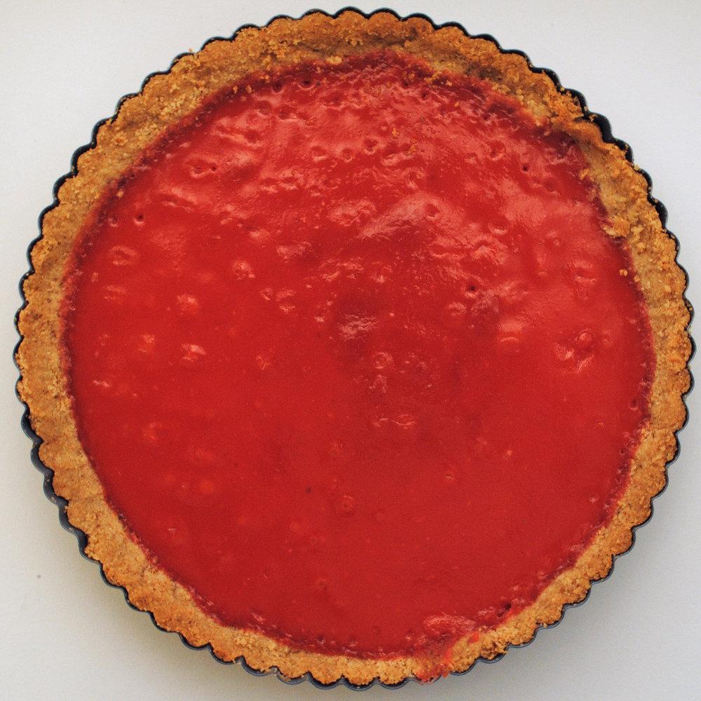 Cranberry Curd Tart