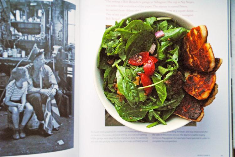 Pan-Fried Chickpea + Halloumi Salad
