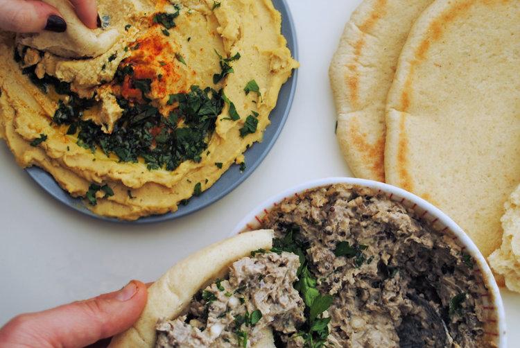 Israeli Hummus + Baba Ghanoush