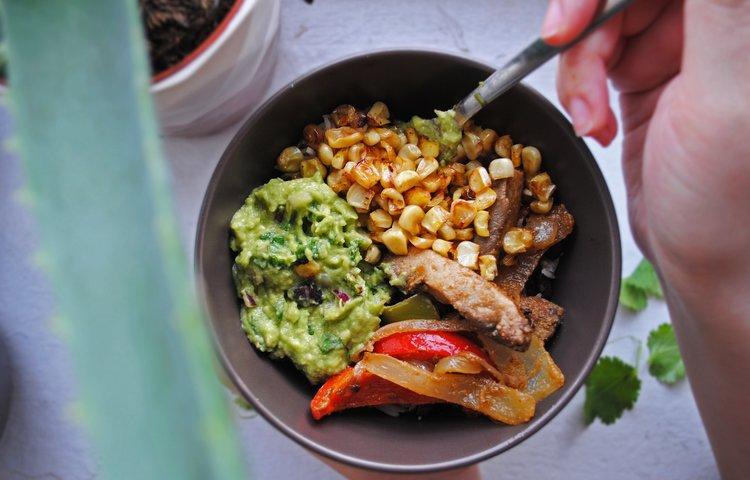 Portabella-Veggie Fajita Bowls