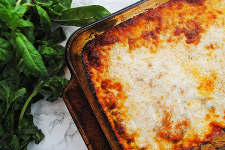 Passover-Friendly Eggplant Parmesan