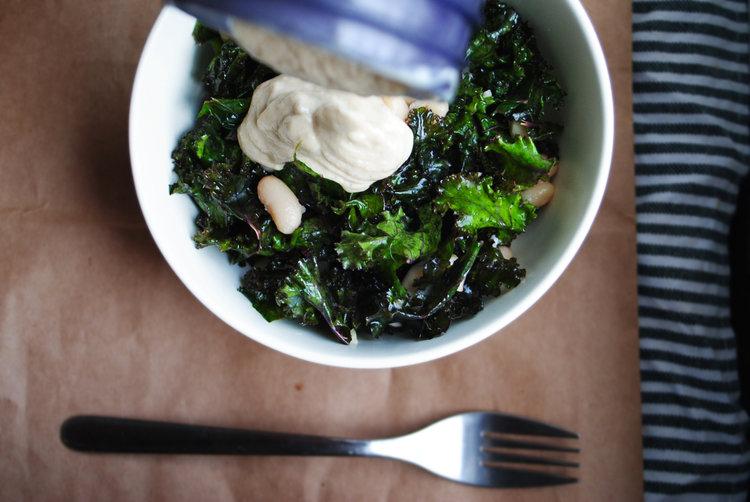 Kale + White Bean Salad