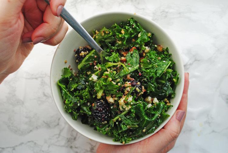 Blackberry Quinoa Salad with Lemon Mint Vinaigrette