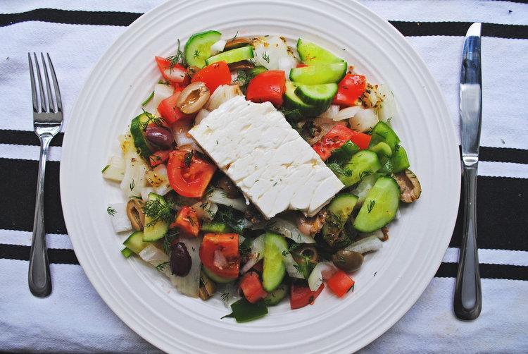 Lemony Greek Salad