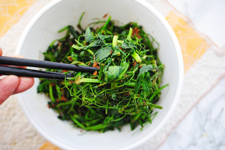 Garlic + Ginger Pea Shoots