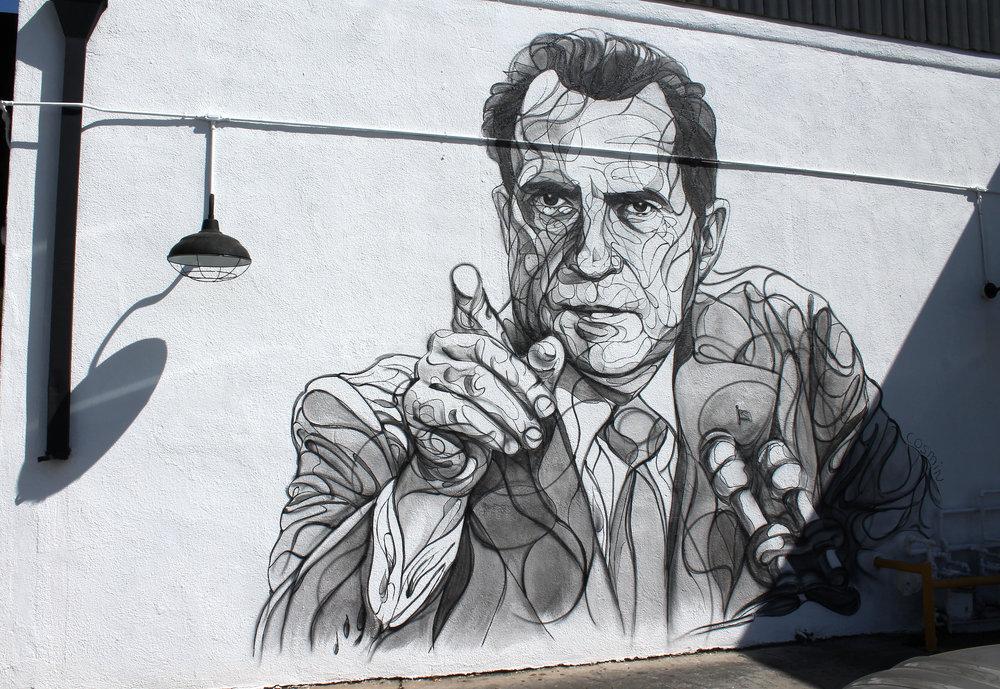 Local Artist Grants Nixon Immortality Through Mural The Quaker Campus