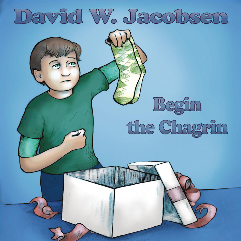 Jacobsen's album artwork captures the dry humor present in his lyrics.