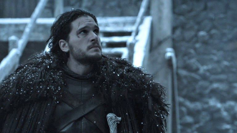 Jon Snow Knows: The Warden of the North prepares for battle with the White Walkers.