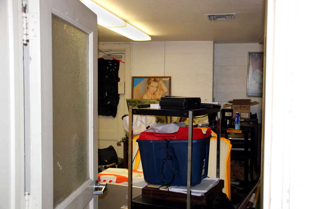 The entrance to the room in Platner basement, where the remainder of VPS' equipment is stored